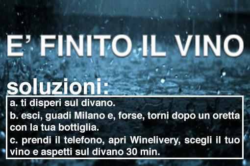 Winelivery – nei giorni di pioggia