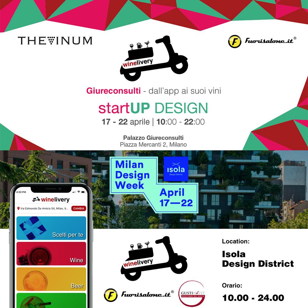 winelivery, nuova app e due brindisi alla Milano Design Week – Fuorisalone